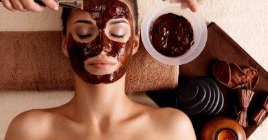 chocolate face mask and scrub