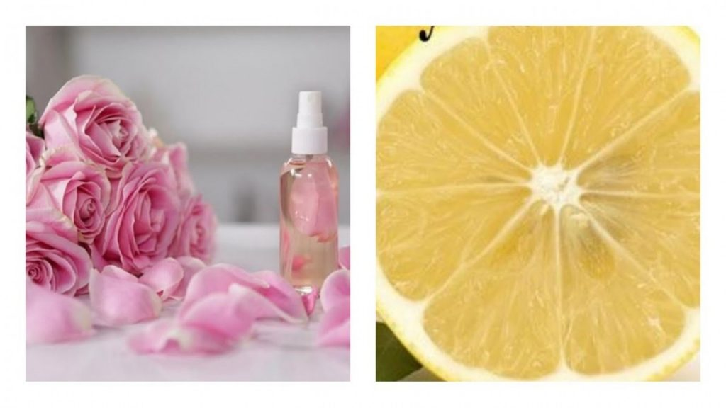 Rosewater, Glycerin, and Lemon