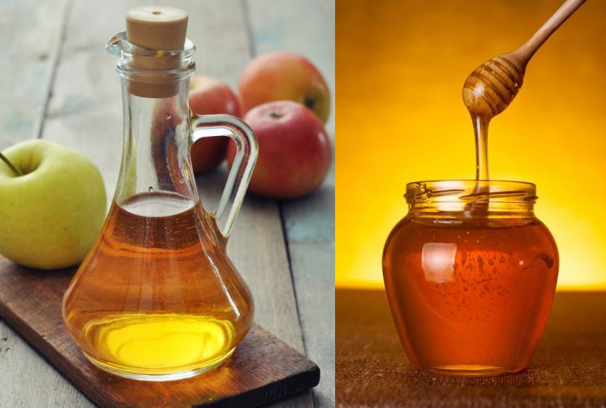 apple cider vinegar honey hair mask