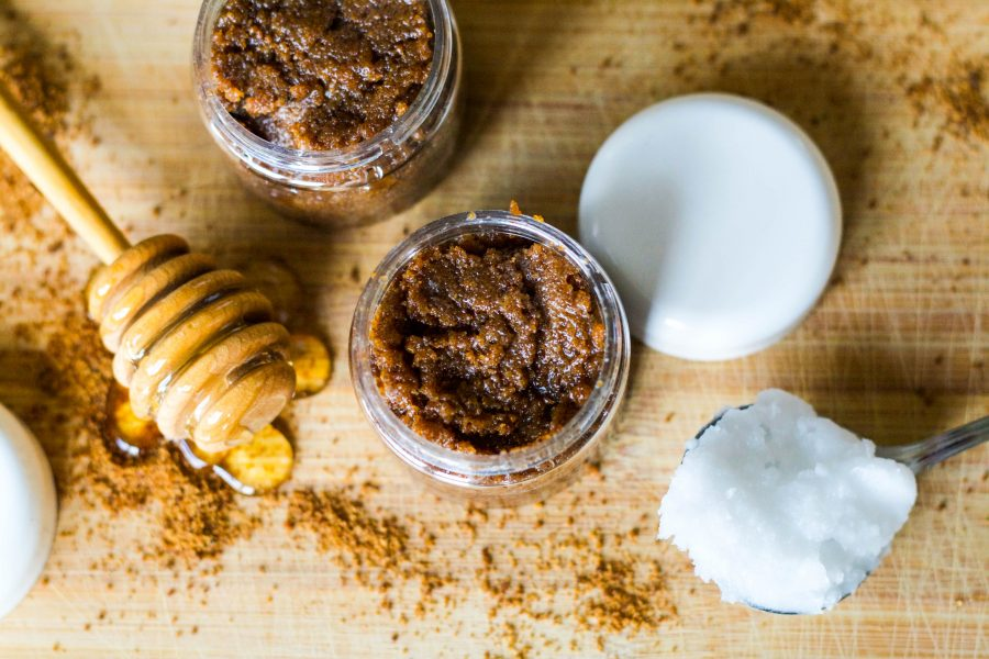 coconut and honey lip scrub