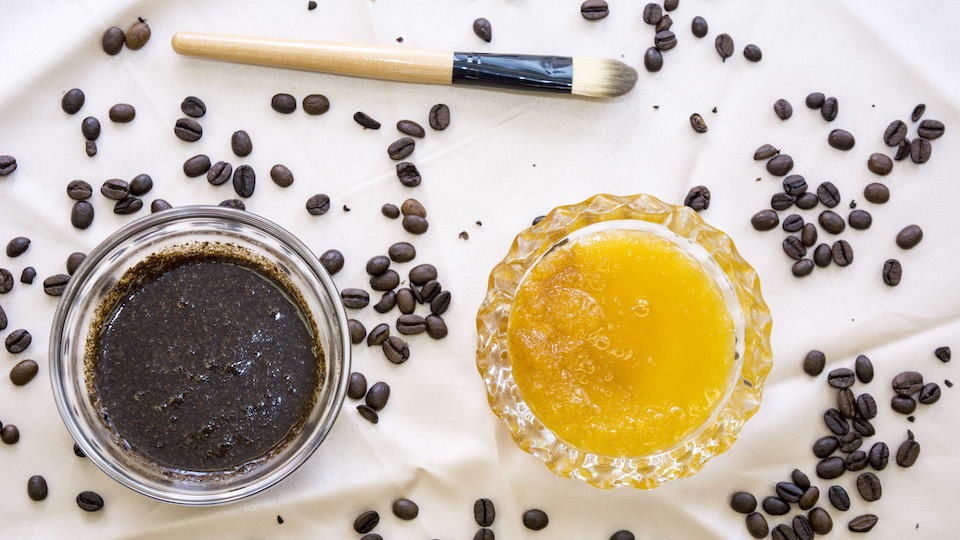 Coffee honey scrub