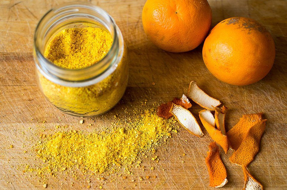 orange peel powder scrub