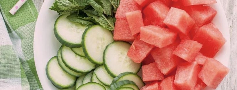 watermelon cucumber face mask