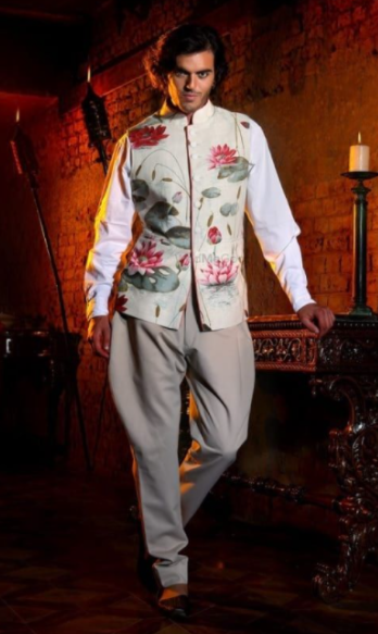 Floral Jacket and Jodhpuri Pants