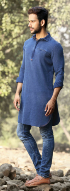 Kurta with denim