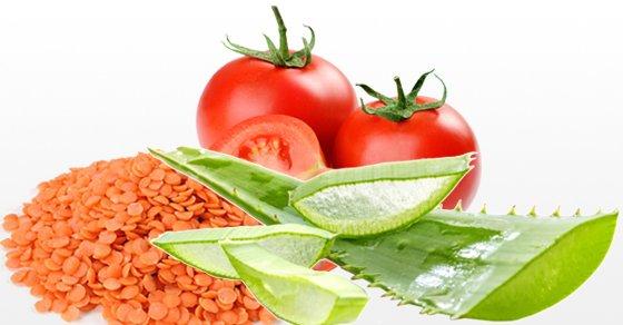 Aloe Vera, Lentil, and Tomato Face Mask