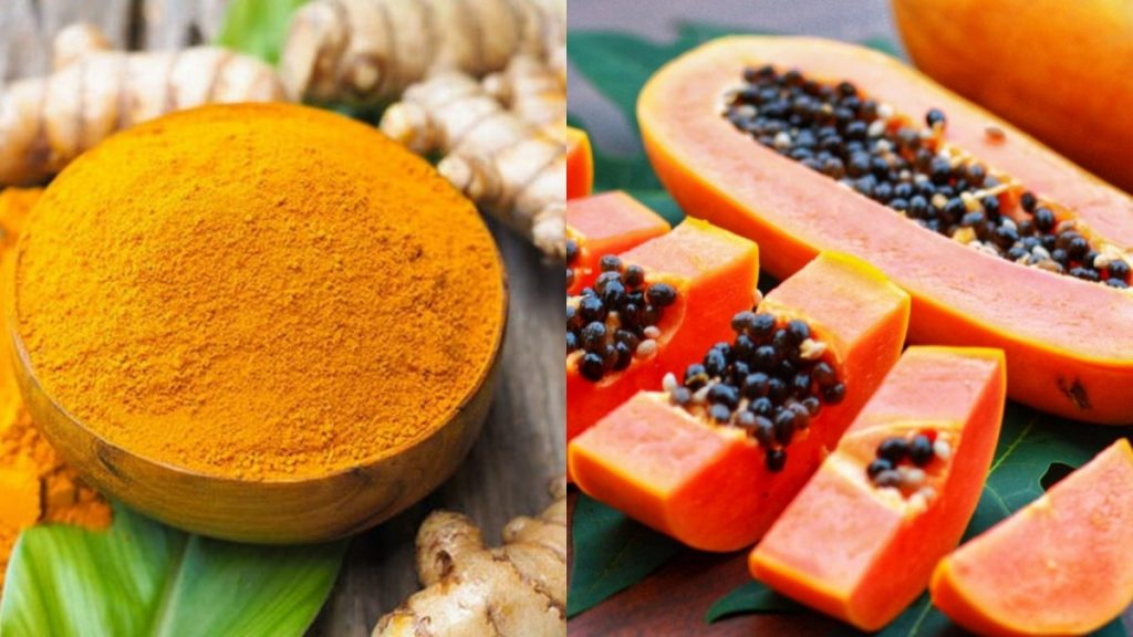 papaya and turmeric