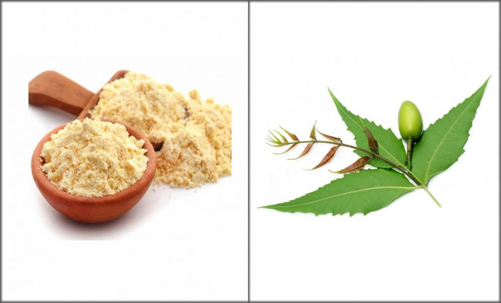 besan-and-neem face pack