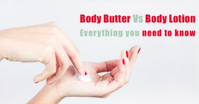 difference between body butter and body lotion