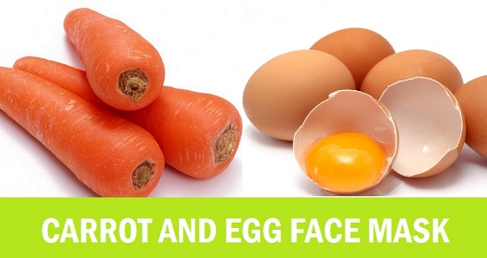 carrot and egg face mask