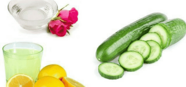 cucumber rose water lemon juice