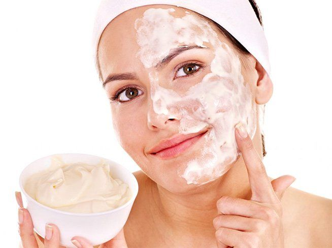 curd face mask