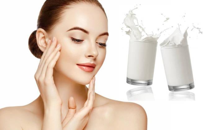 boiled milk for face