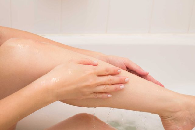 exfoliate legs naturally at home
