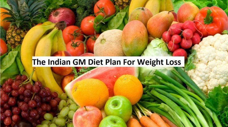 gm diet indian version chart