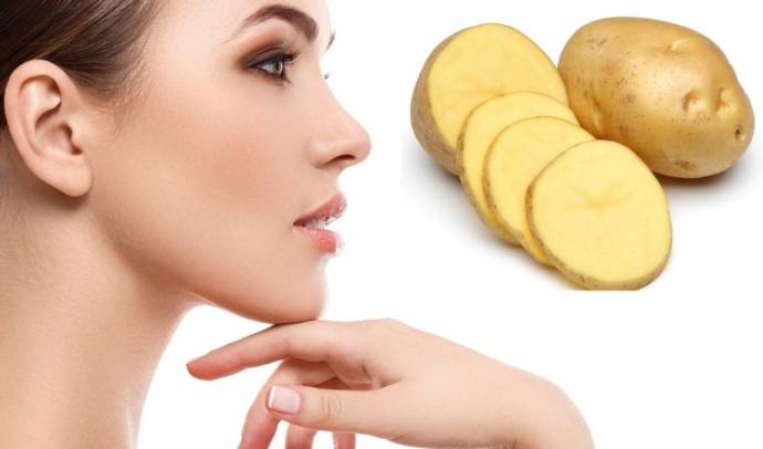 hole in skin after pimple- potato juice and turmeric