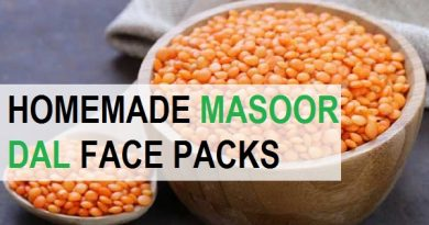 masoor dal for acne scars