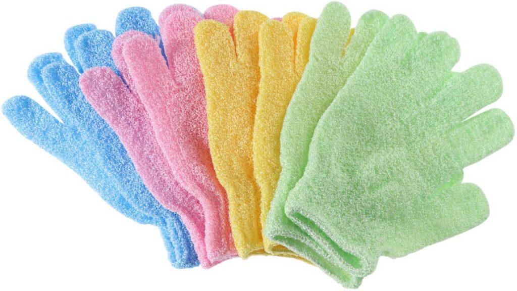 exfoliating gloves vs scrub