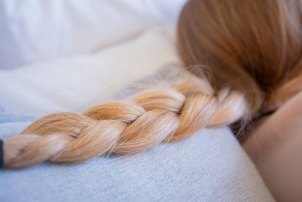 sleep with braids